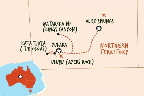 uluru travel guide Ayers Rock - uluru alice springs map yulara