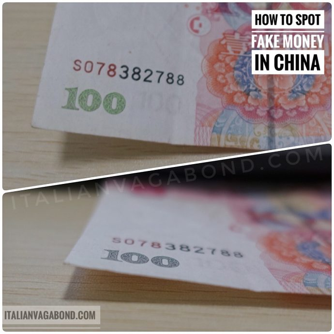 How to tell if money is fake in China