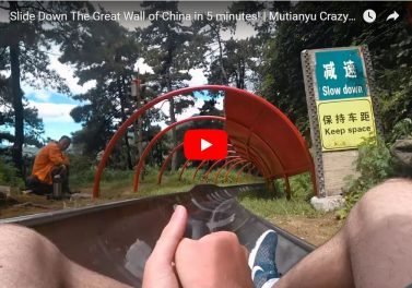 mutianyu toboggan great wall of china