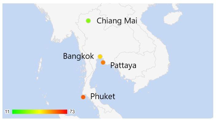 vivere in thailandia criminalità città più sicura