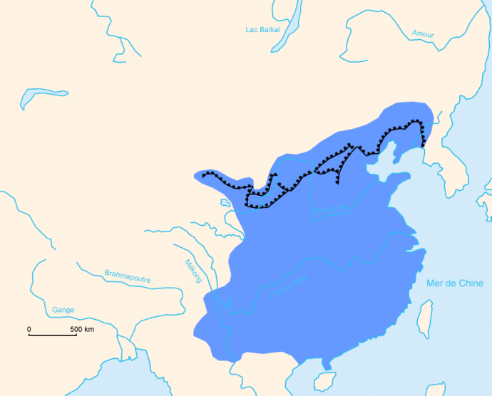 muraglia cinese mappa ming