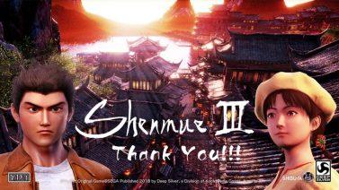 shenmue 3 data uscita release date